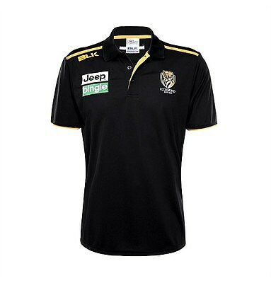 Richmond Tigers AFL 2016 Players BLK Media Polo Shirt Sizes S-3XL!