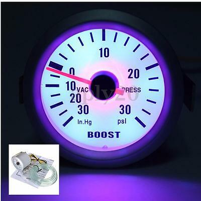 2'' 52Mm Manometro Strumento Pressione Turbo Auto Boost Guage 30In. Hg/30Psi 12V