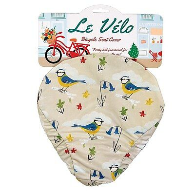 dotcomgiftshop BLUE TIT BICYCLE SEAT COVER