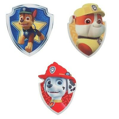 Paw Patrol Badges Embroidered Iron on Motif Applique