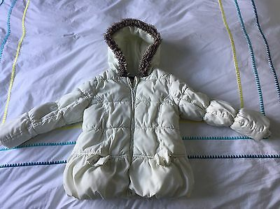 Girls Coat, Marks & Spencer Autograph, Age 3-4 Years, Cream Colour,