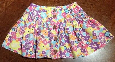 George Girls Pretty Foral Flared Skirt With Button Detail Age 4-5 Years