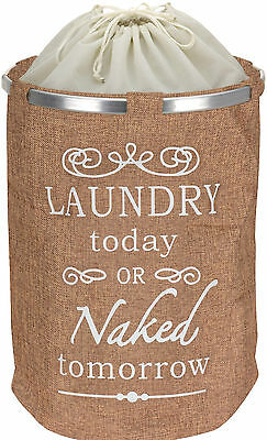 Pop Up Laundry Basket Canvass Material dirty washing laundry bin hamper storage