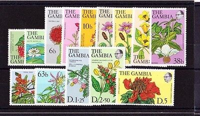 Gambia 1977 Complete Set Sg 371-383 Mnh.