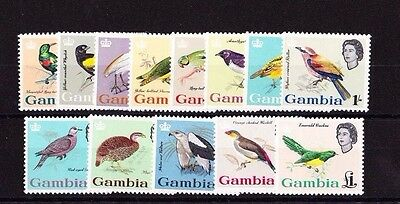 Gambia 1963 Complete Set Sg 193-205 Mnh.