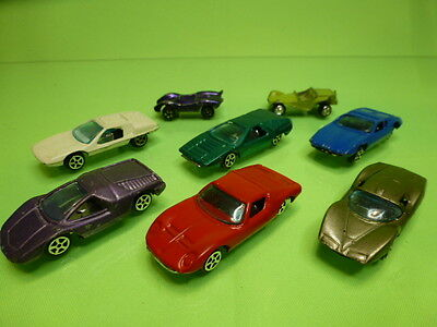 LOT of 8 VEHICLES  MADE IN HONG KONG PLAYART ALFA LAMBORGHINI BUGGY ABARTH