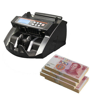 Money Bill Cash Currency Note Counter Machine Fake Detector UV Counterfeit BS