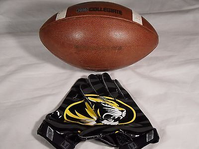 Nike 3005 Missouri Tigers Mizzou Game Used Team Issue Football Vapor Jet Gloves