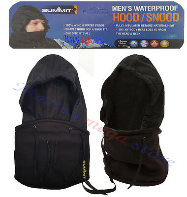 Summit Men's Waterproof/Windproof HOOD/SNOOD BALACLAVA INSULATED SPECIAL OFFER