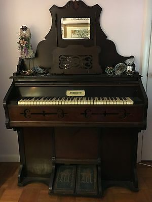 John Malcolm of London Victorian Pump Organ for Sale 1800's nice shape/ NY Area