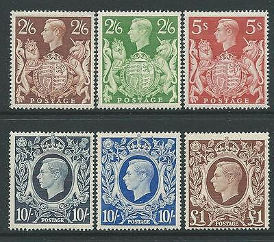 ARMS 2/6d - £1 SET OF 6 FINE LIGHTLY MOUNTED MINT
