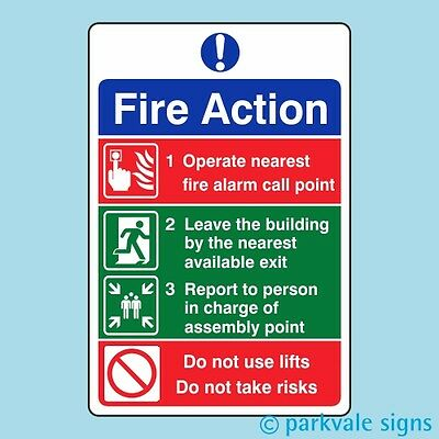 General Fire Action Sign (413)