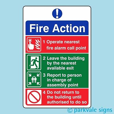 General Fire Action Sign (414)