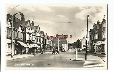Cheshire Wirral Wallasey Village 1956 Real Photo Vintage Postcard 15.11