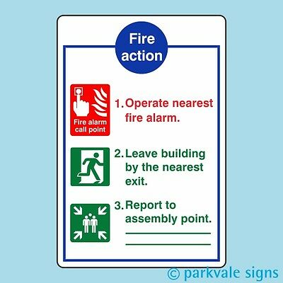 General Fire Action Sign (425)