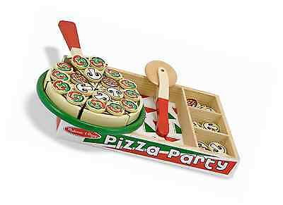 Melissa & Doug Wooden Pizza Toy for Kids Learning and Play