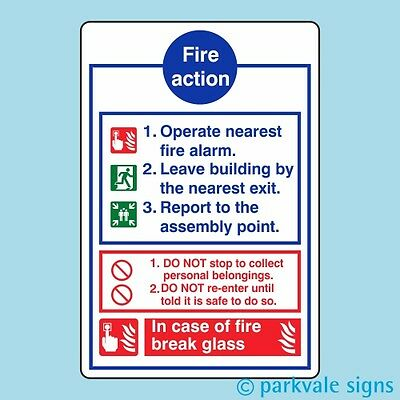 General Fire Action Sign (426)