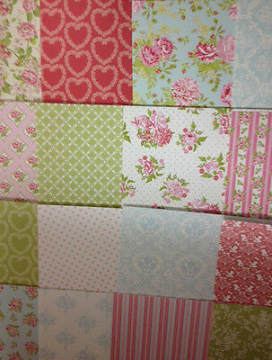 16 SHEET TASTER 8 x 8 FIRST EDITION PRETTY POSY CARD MAKING CRAFT BACKING PAPER