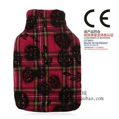 Germany Fashy 2.0L Hot Water Bottle With Crackers & Rose Embroidery Cover 6776