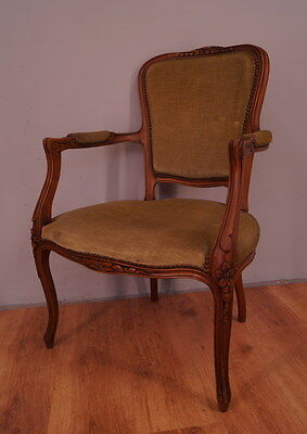 1061 !! Impressive French Armchair In Louis Xv Style !!