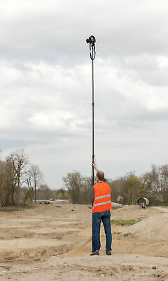 9.4 Metre Telescopic Camera Pole for Aerial Photography & Rotating Footplate