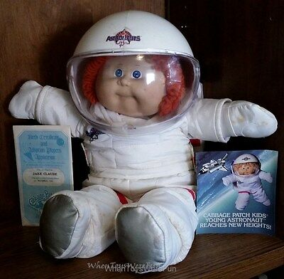 Vintage Cabbage Patch Kids Young Astronaut Redheaded Pigtails Girl