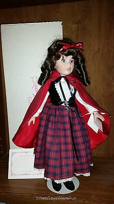 """18"""" Little Red Riding Hood 1991 Limited Ed #17/1000 Vinyl Doll Susan Wakeen /Box"""
