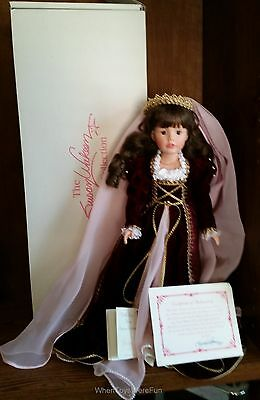 """16"""" Juliet Limited Edition #21/750 Vinyl Doll by Susan Wakeen w/COA & Tags MIB"""
