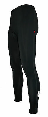 Mens Extra Long Winter Thermal Gel Padded Cycling Trousers Leggings Tights