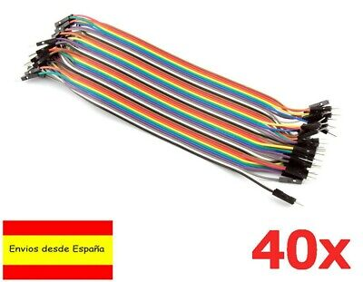 40x CABLES Hembra Macho  20cm jumpers dupont 2,54 arduino  protoboard  España