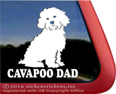 Cavapoo Dad | High Performance Vinyl Window Auto Tablet Dog Decal Sticker