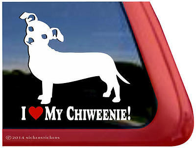 I Love My Chiweenie | High Quality Vinyl Window Auto Tablet Dog Decal Sticker