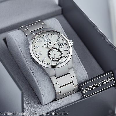 Stock Clearance! Brand New Anthony James White Vintage With Date Window Srp £455