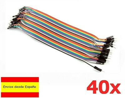 40x Cables 20cm Macho Macho jumpers dupont 2,54 arduino protoboard cable