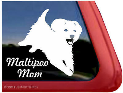 Maltipoo Mom | High Quality Vinyl Window Auto Tablet Dog Decal Sticker