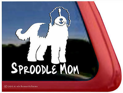 Sproodle Mom  | High Quality Vinyl Window Auto Tablet Dog Decal Sticker