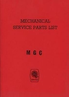 MG C 1968 Car Parts manual for mechanical Catalogue Book paper