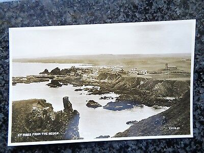 St. Abbs from the Heugh Coldingham Berwickshire - Fine Unused Sepia RP by NISBET