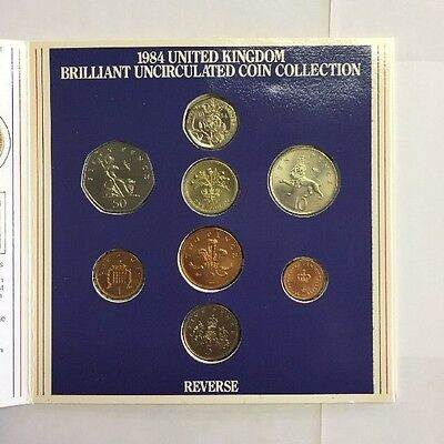 1984 United Kingdom Brilliant Uncirculated 8 Pc Coin Set