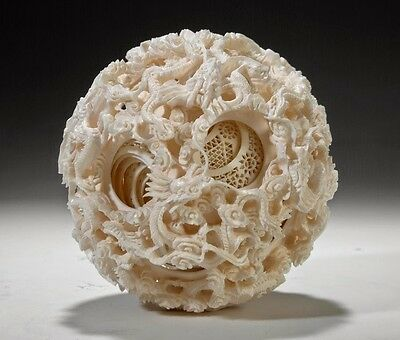 Chinese Puzzle Ball - Hk Ivory - 8 Layers