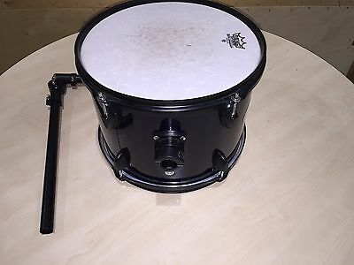 """12"""" STAGG tom drum in dark blue with REMO skin + arm"""