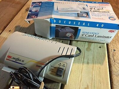 "GBC Docuseal 40 4"" Card Laminator Laminate Cards Ropes Makes Badges, Luggage Tag"