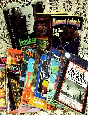 Lot/15 Halloween GHOST HAUNTING Children's Books MORE SCARY STORIES TO TELL +