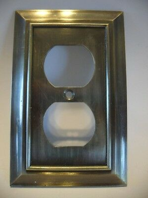 Antique BRASS Metal Finish Duplex OUTLET Wall Cover Plate Heavy Weight 3.5 oz.