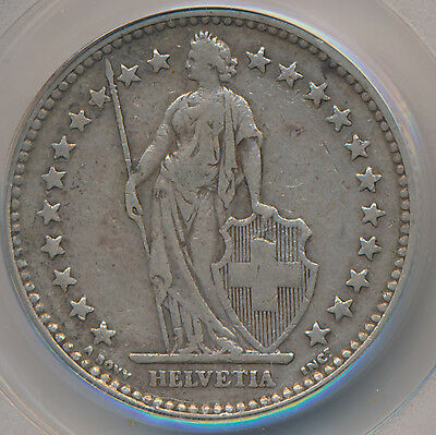 Switzerland 2 Francs 1901B - PCGS VF 30