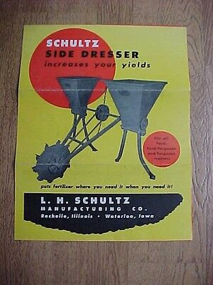 Vintage Schultz Side Dresser For Ford Tractors Brochure
