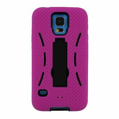 Armor Skin Hard Case Hybrid Shockproof Rugged Cover Stand For Samsung Galaxy S5