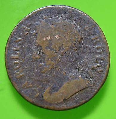 Great Britain King Charles II 167? Farthing  coin