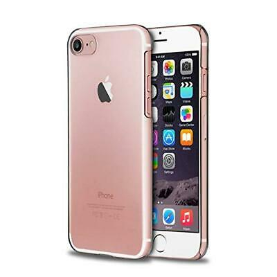 Clear Case For iPhone 8 7 Plastic Crystal Hard Back Cover + 1 Screen Protector