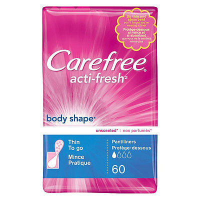 Carefree Acti-Fresh Body Shape Pantiliners 60 Count